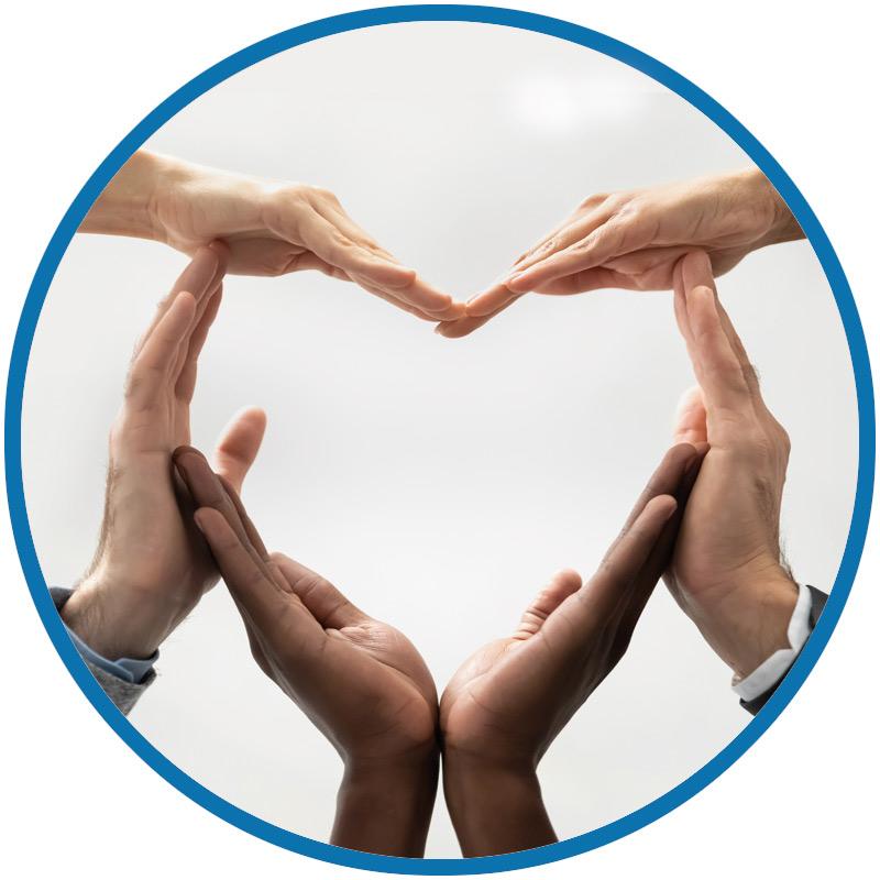 Ein Herz als Symbol für Wertschätzung und Vertrauen
