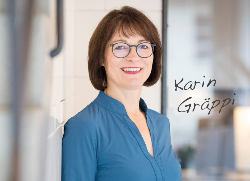 Karin Gräppi ist Expertin für Coaching und Mentoring